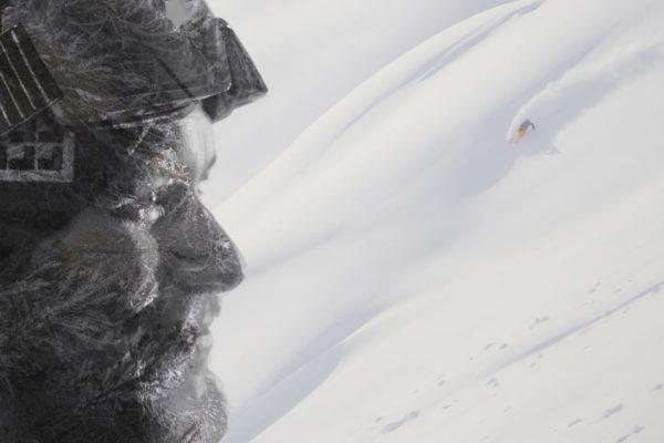 montagne passe montagne ski freeride film drone