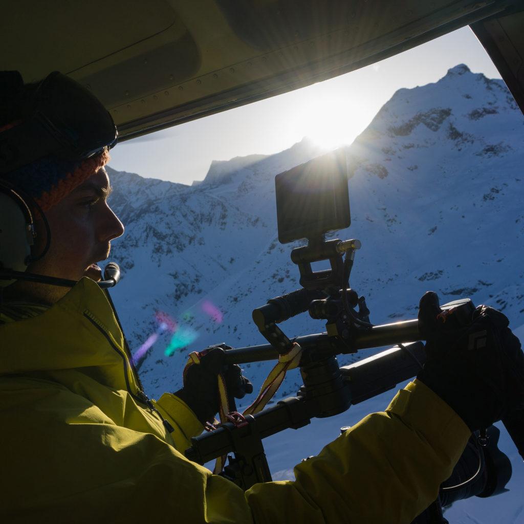 leonard berner cameraman montagne helico